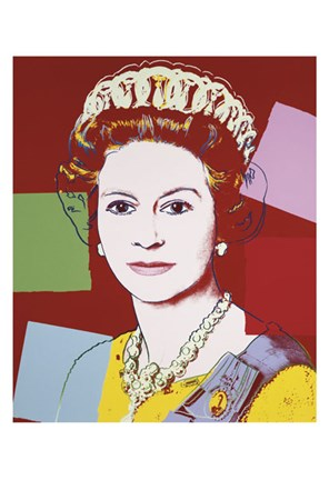 Framed Reigning Queens: Queen Elizabeth II of the United Kingdom, 1985 (dark outline) Print