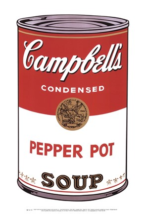 Framed Campbell's Soup I:  Pepper Pot, 1968 Print