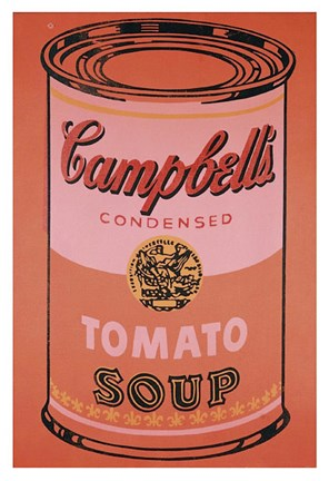 Framed Campbell's Soup Can, 1965 (orange) Print