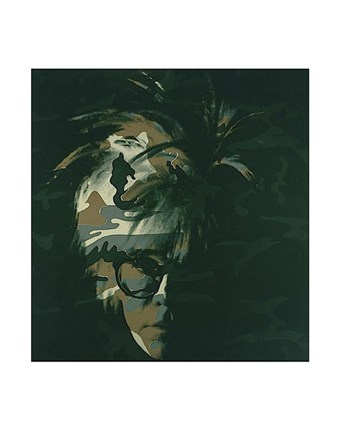 Framed Self-Portrait, 1986 (brown camo) Print