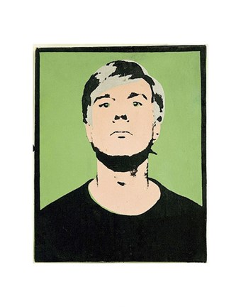 Framed Self-Portrait, 1964 (on green) Print