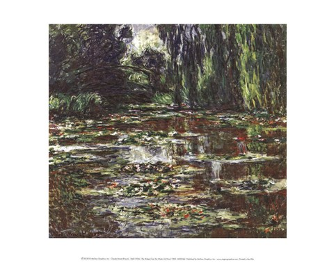 Framed Bridge Over the Water Lily Pond, 1905 Print