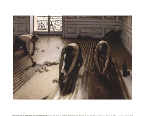 The Floor Scrapers Raboteurs De Parquet 1875 Fine Art