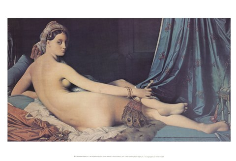 Framed Grand Odalisque, 1814 Print
