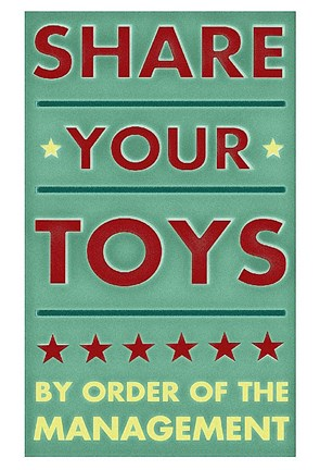 Framed Share Your Toys Print