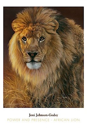 Framed Power and Presence- African Lion Print