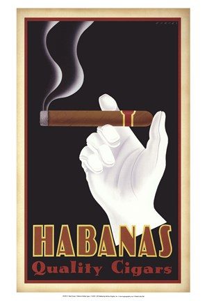 Framed Habanas Quality Cigars Print