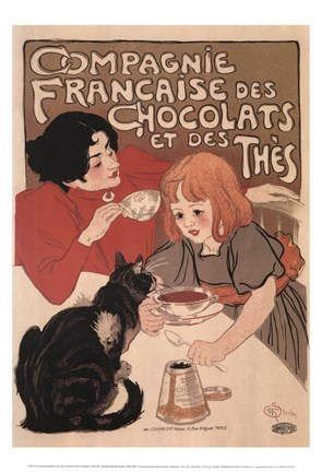 Framed Compagnie Francaise des Chocolats Print