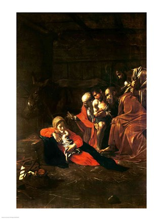 Framed Adoration of the Shepherds Print