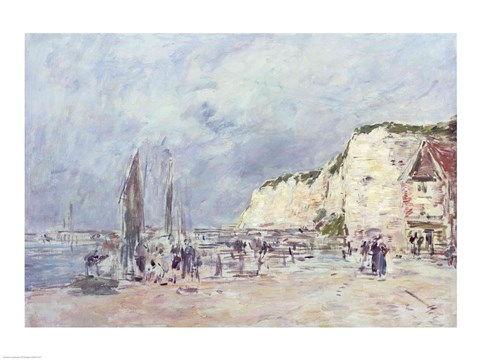 Framed Cliffs at Dieppe and the 'Petit Paris' Print