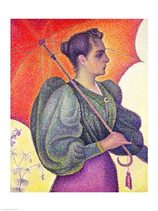 Framed Woman with a Parasol, 1893 Print