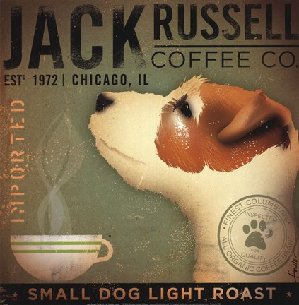 Framed Jack Russell Coffee Co Print