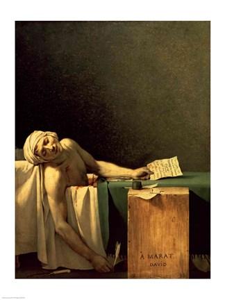 The Death Of Marat 1793 Fine Art Print By Jacques Louis