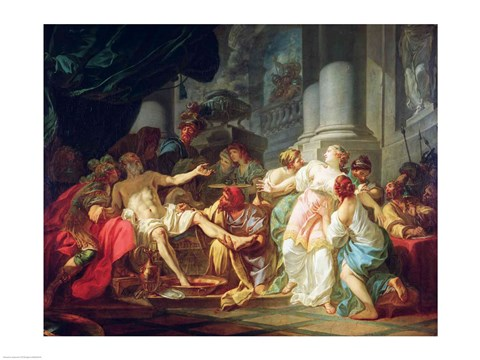 The Death Of Seneca 1773 Fine Art Print By Jacques Louis