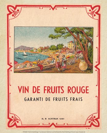 Framed Vin De Fruits Rouge Print