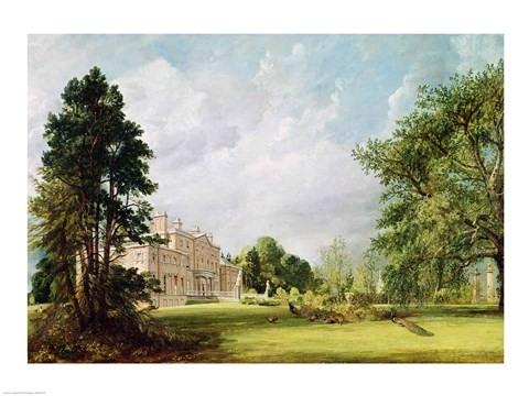 Malvern Hall, Warwickshire, 1821 Fine Art Print by John Constable at ...