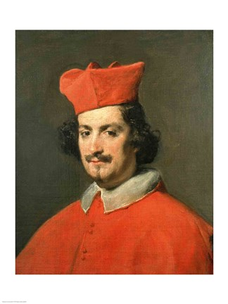 Framed Portrait of Cardinal Camillo Astali Pamphili, 1650 Print
