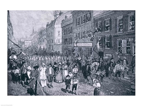 Framed Carnival at Philadelphia, illustration from 'The Battle of Monmouth Court House' Print