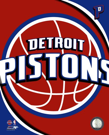 Framed Detroit Pistons Team Logo Print
