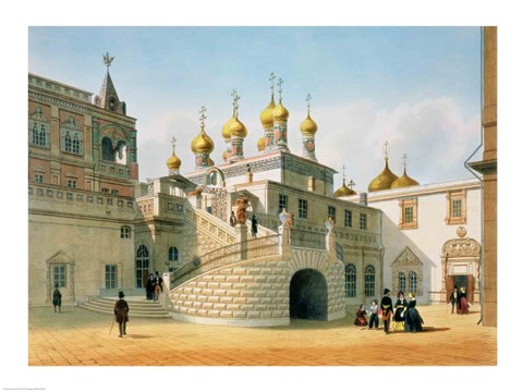 Framed View of the Boyar Palace in the Moscow Kremlin Print