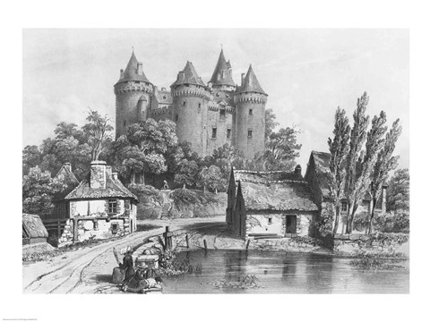 Framed Castle of Combourg Print
