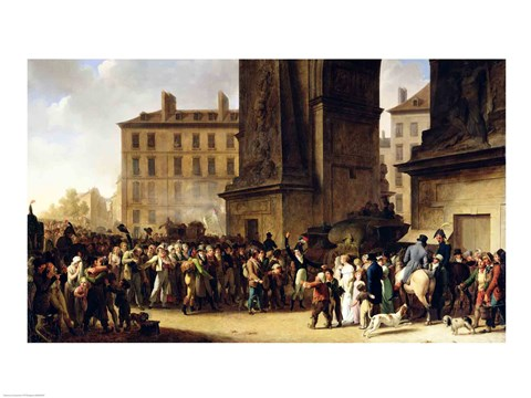 Framed Conscripts of 1807 Marching Past the Gate of Saint-Denis Print