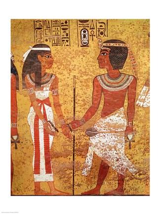 Tutankhamun And His Wife Ankhesenamun Fine Art Print By