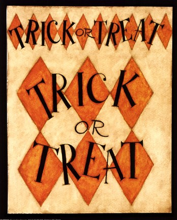 Framed Trick or Treat Print