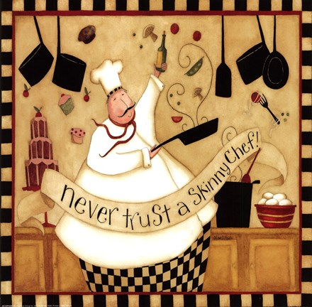 Kitchen Favorites Skinny Chef Fine Art Print By Dan