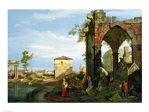 Framed Capriccio with Motifs from Padua Print