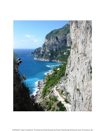 Framed Capri Coastline Photograph Print
