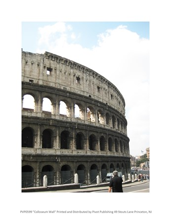 Framed Colloseum Wall Print