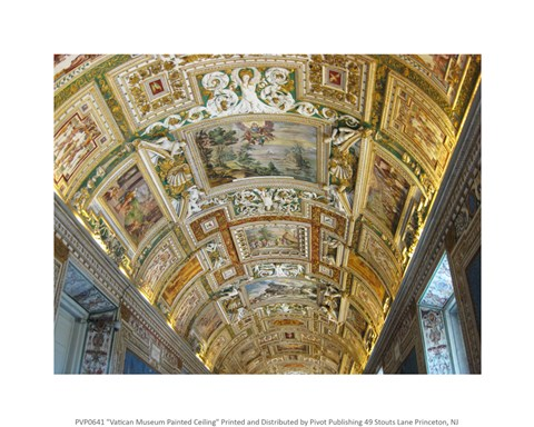 Framed Vatican Museum Painted Ceiling Print