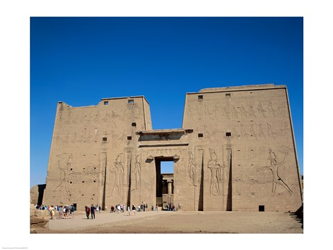Framed Temple of Horus, Edfu, Egypt Print