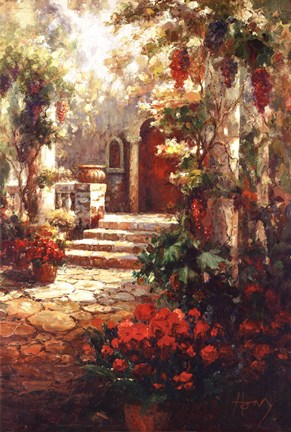 Courtyard Romance Fine Art Print By R Hong At