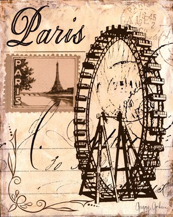 Framed Paris Collage III Print