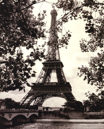 Framed Eiffel Tower II Print
