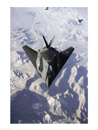 Framed US Air Force F-117 Stealth Fighter Print