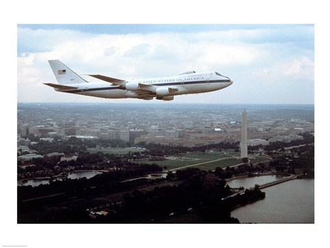 Framed E-4B Advanced Airborne Command Post Washington, D.C. Print