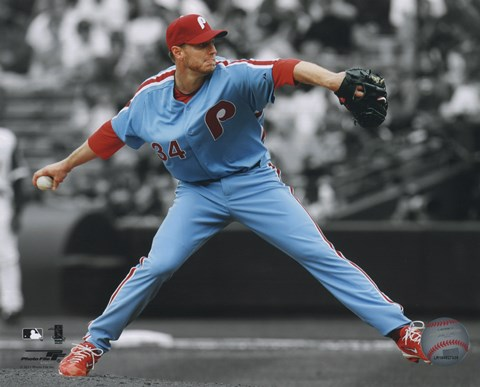Framed Roy Halladay 2011 Spotlight Action Print