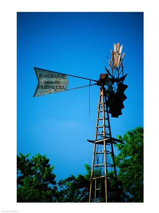 Framed Low angle view of an industrial windmill, Winterset, Iowa, USA Print
