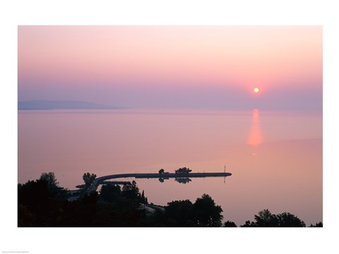 Framed Sunrise view from Tihany, Tihany, Lake Balaton, Hungary Print