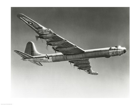 Framed Low angle view of a fighter plane in flight, Convair B-36D Print