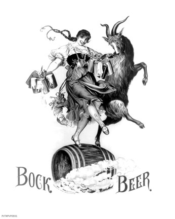 Framed Bock Beer Dance Print