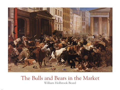Framed Bulls and Bears in the Market Print