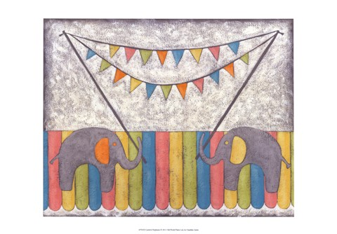 Framed Carnival Elephants Print