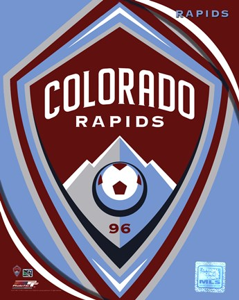 Framed 2011 Colorado Rapids Team Logo Print