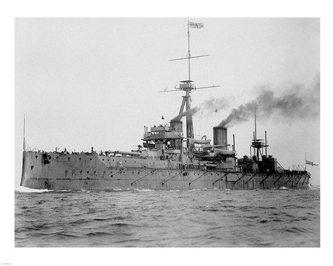 Framed HMS Dreadnought 1906 H61017 Print