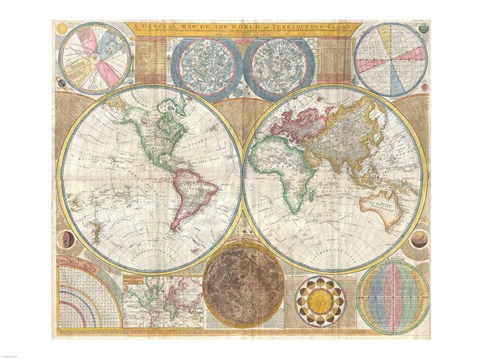 1794 samuel dunn wall map of the world in hemispheres fine art print 1794 samuel dunn wall map of the world in hemispheres gumiabroncs Choice Image