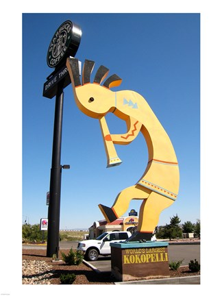 Framed World's Largest Kokopelli Print